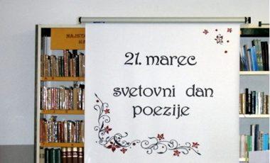Pesem pri pouku na svetovni dan poezije